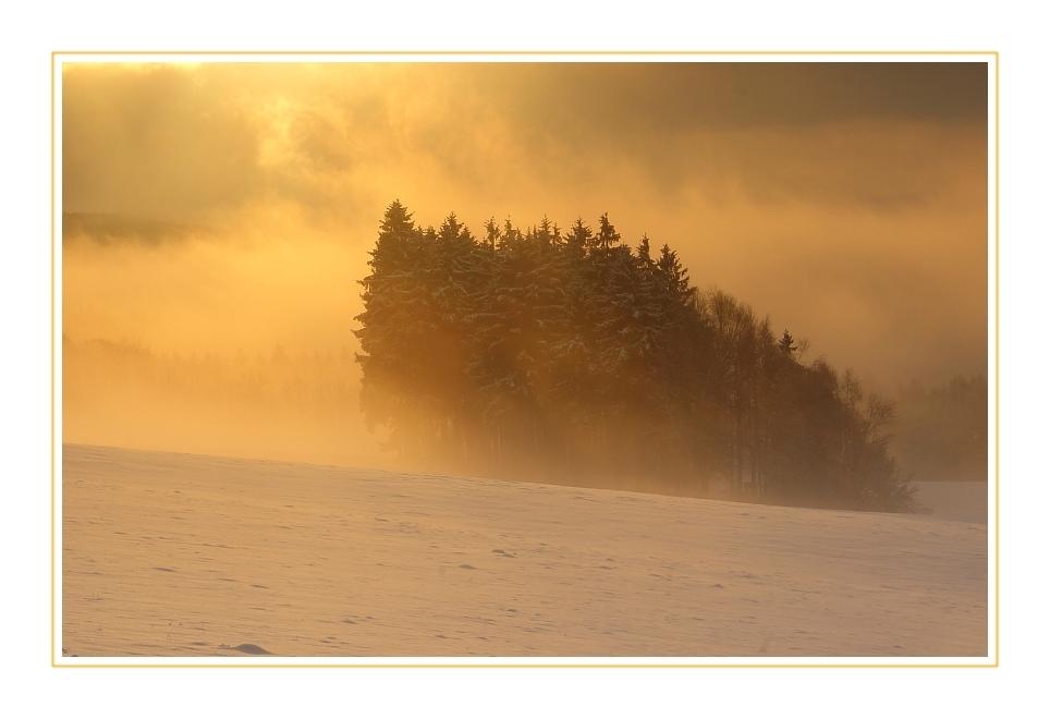 Wenn der Nebel am Morgen auftaucht