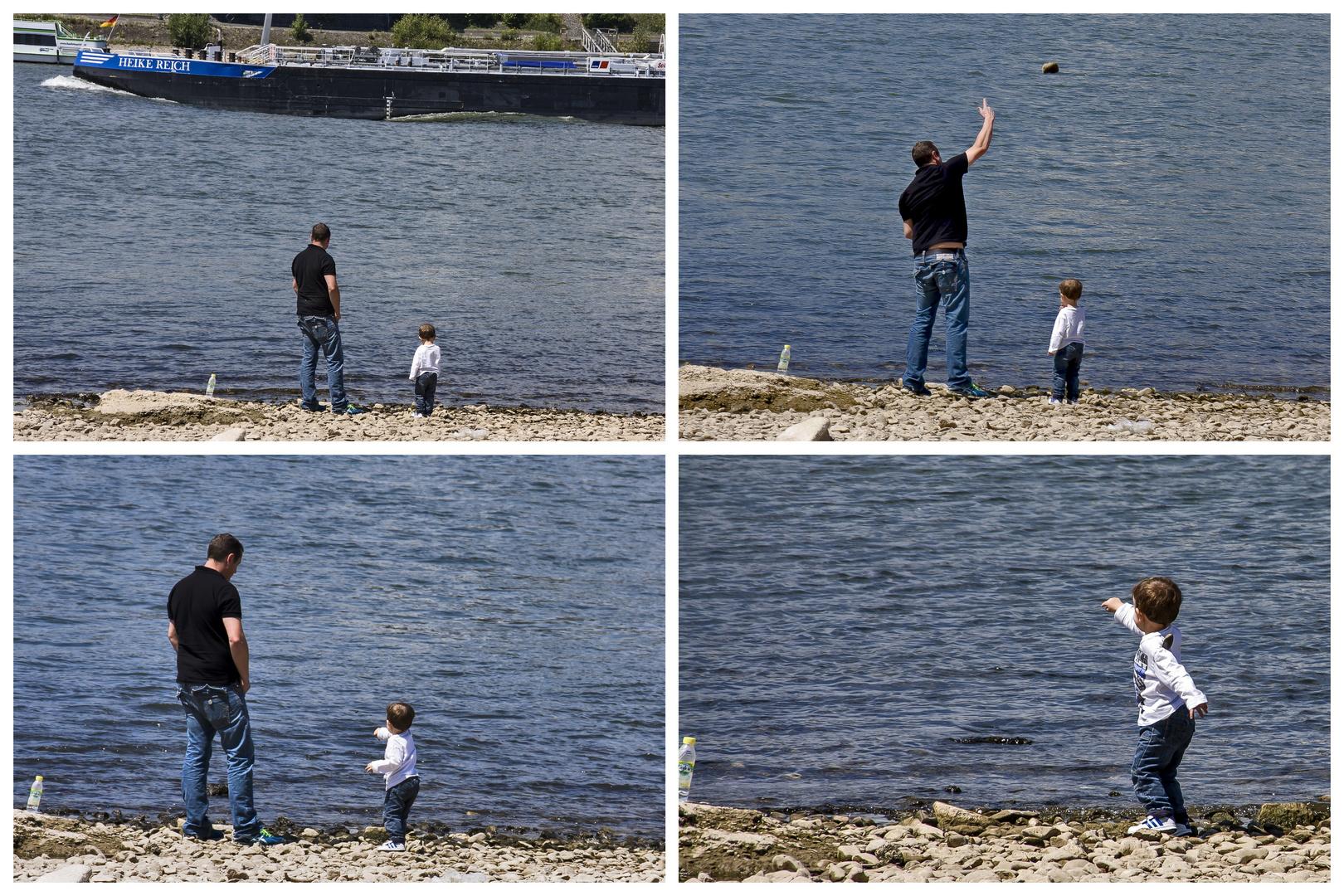 Wenn der Papa mit dem Sohne...