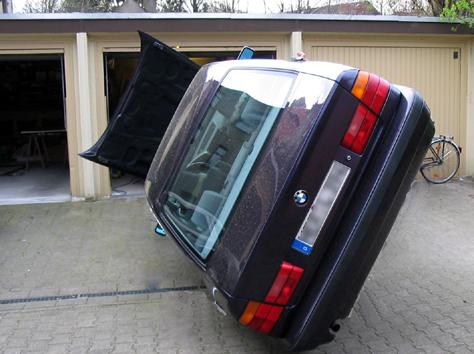 Wenn die Garage zu klein ist...