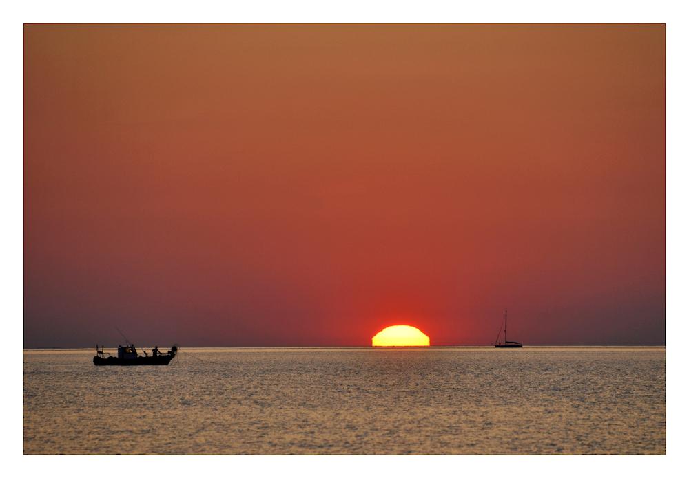 wenn die Sonne aus dem Meer steigt.....