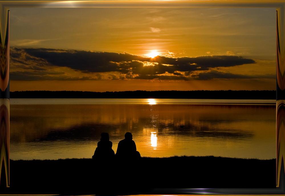 Wenn die Sonne bei Wandlitz im See versinkt....