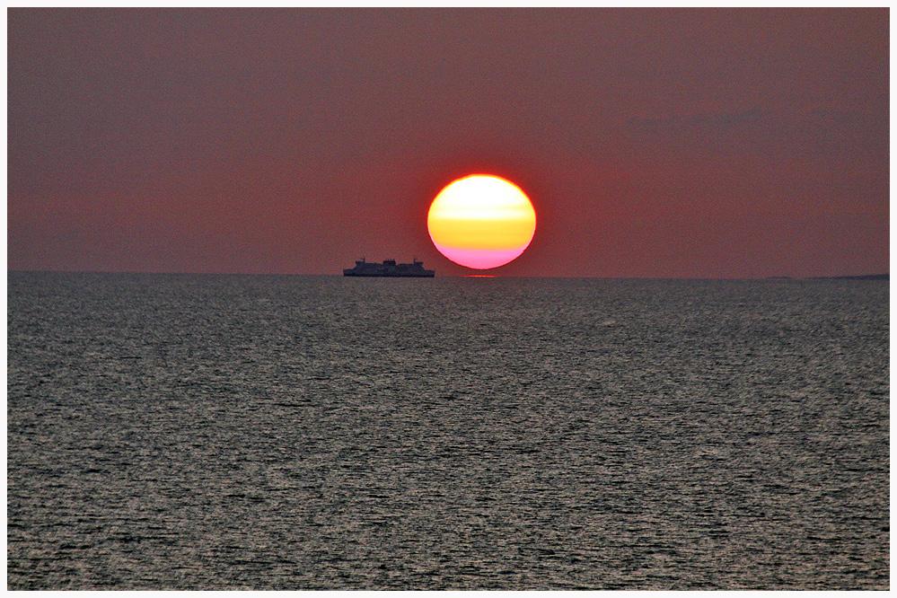 Wenn die Sonne das Meer berührt...