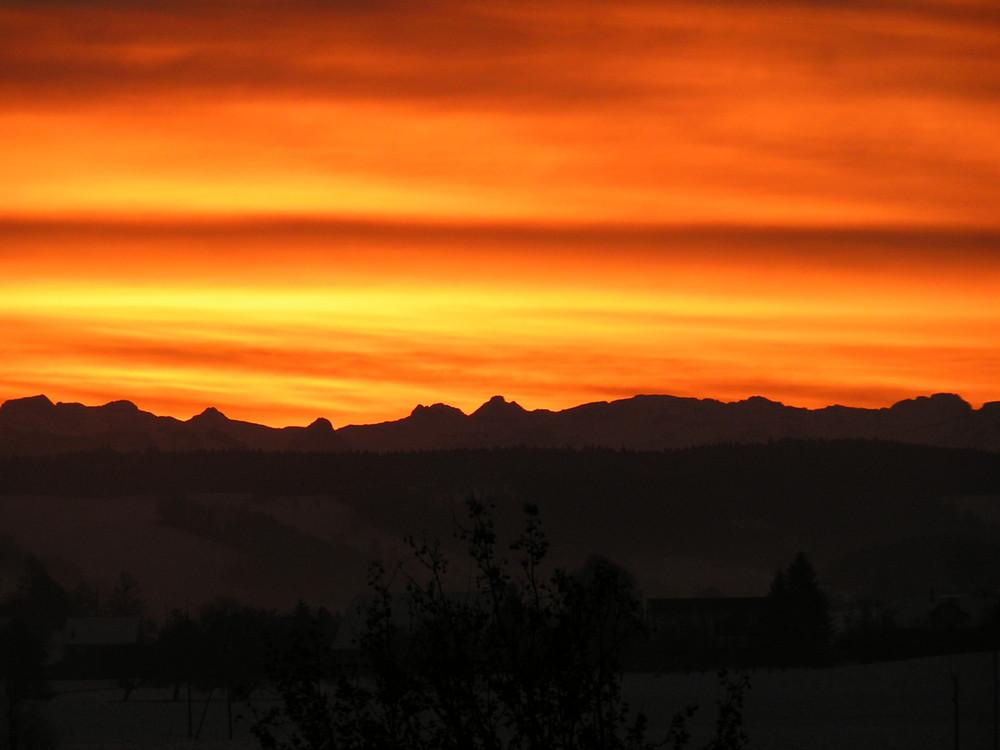 ...wenn die Sonne erwacht in den Bergen