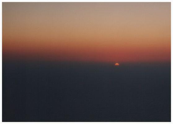 Wenn die Sonne im Meer von Caparica (Portugal) versinkt...