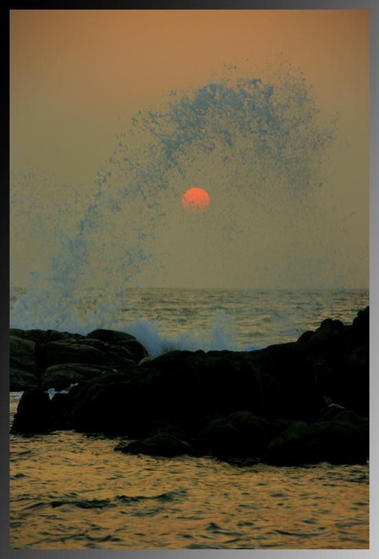 Wenn die Sonne ins Wasser taucht...