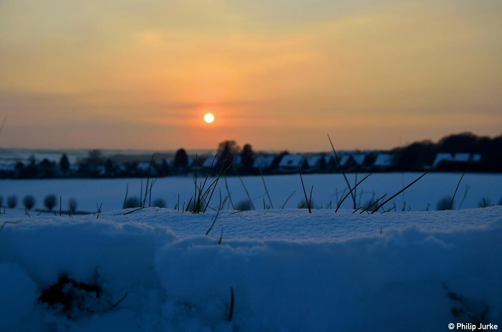 Wenn die Sonne mit dem Schnee