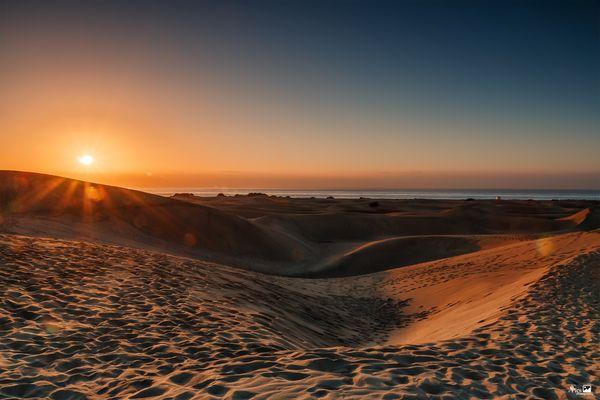 Wenn die Sonne über die Dünen wandert - Kanaren700