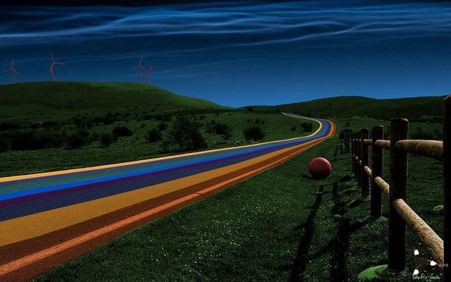 wenn die Straßen wurden gefärbt