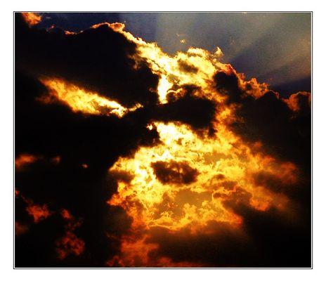 Wenn dir der Himmel grollt....