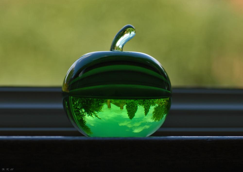 Wenn ein Glasapfel dir zeigt es ist schönes Wetter;-)