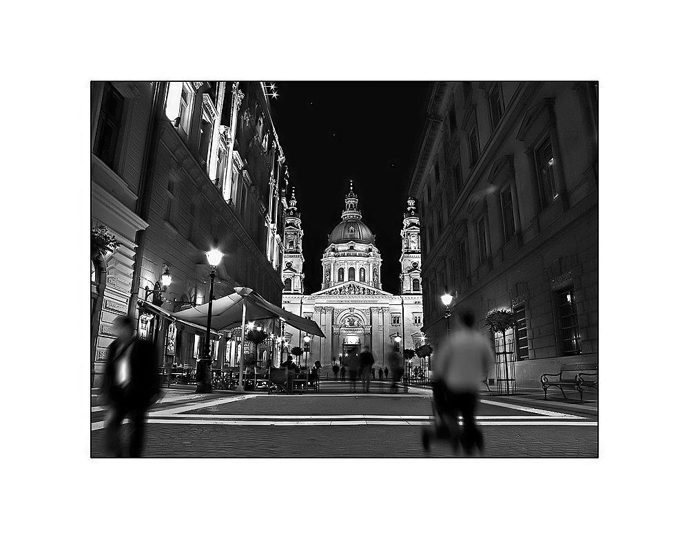 Wenn es Nacht wird in Budapest