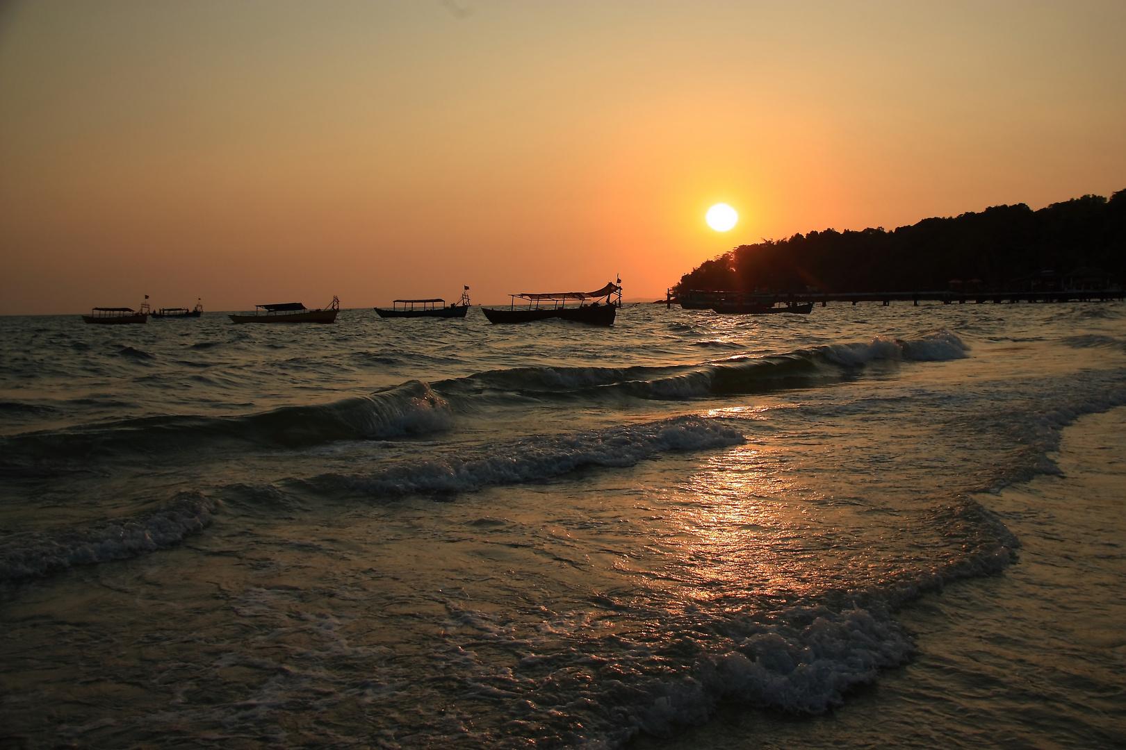 Wenn es Nacht wird in Cambodia...