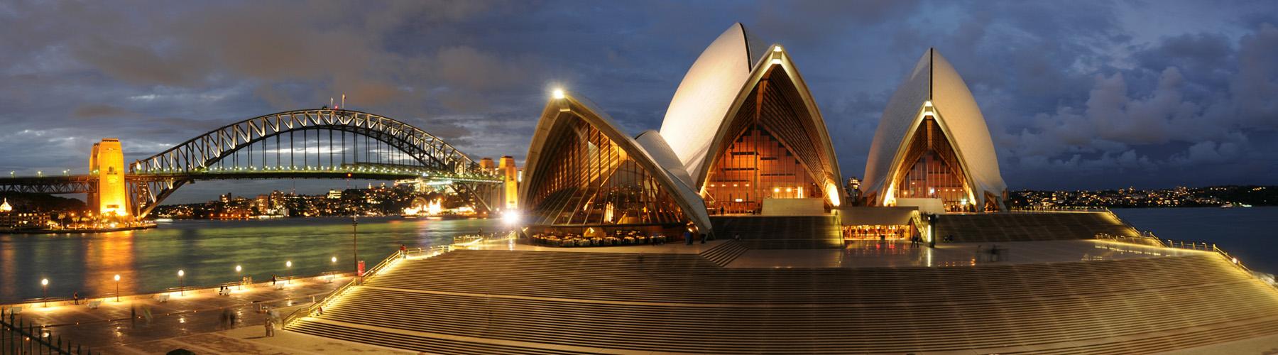 Wenn es Nacht wird in Sydney