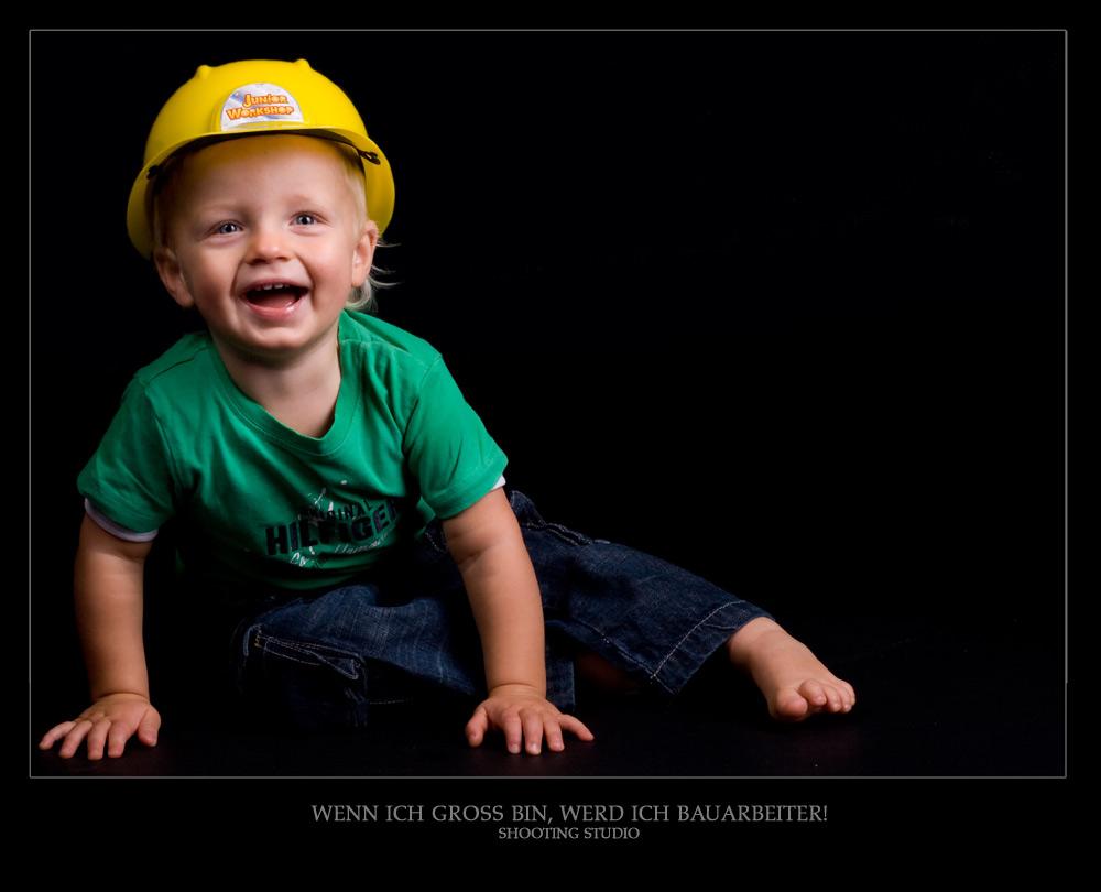 Wenn ich groß bin, werd ich Bauarbeiter...