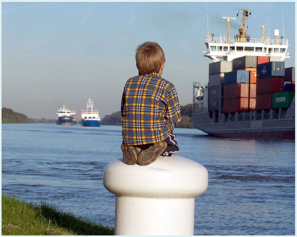 Wenn ich groß bin werde ich Kapitän!