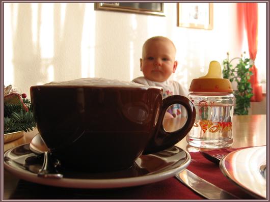 """Wenn ich mal gross bin, trinke ich auch """"Cino"""" zum Frühstück"""