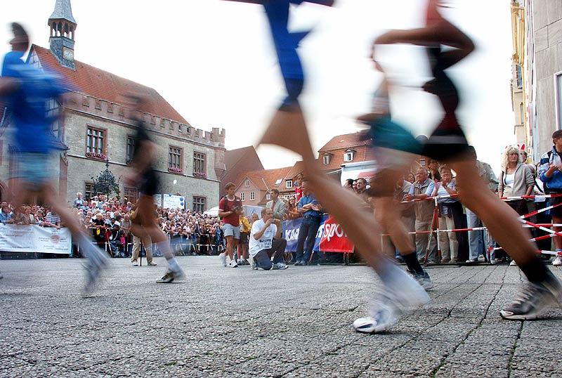 Wenn Läufer schneller sind als Photonen, sieht man nur noch Schemen