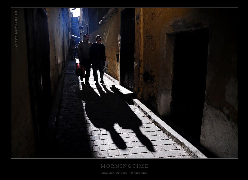 Wenn lange Schatten durch die Medina wandern...
