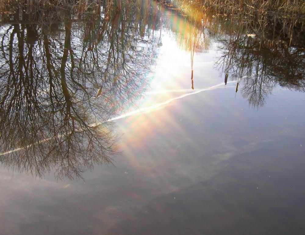 Wenn Sonnenstrahlen die Erde kitzeln