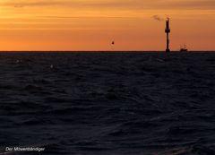 Wenn vor Helgoland die rote Sonne im Meer versinkt