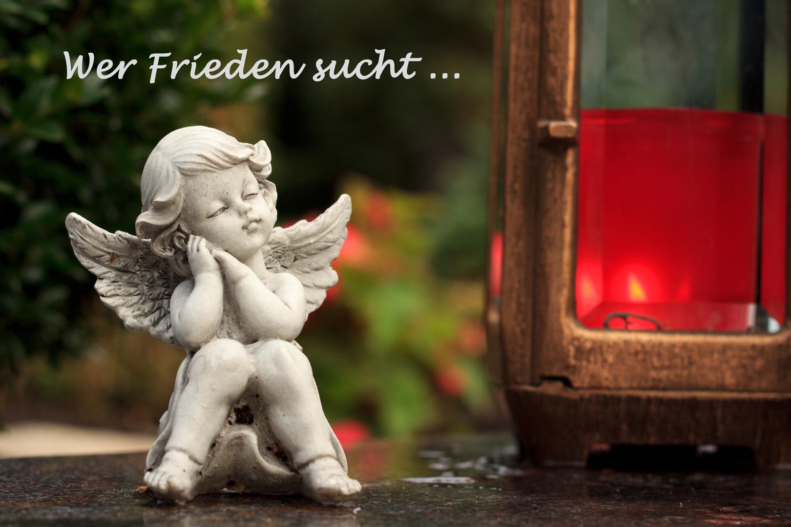 Wer Frieden sucht...