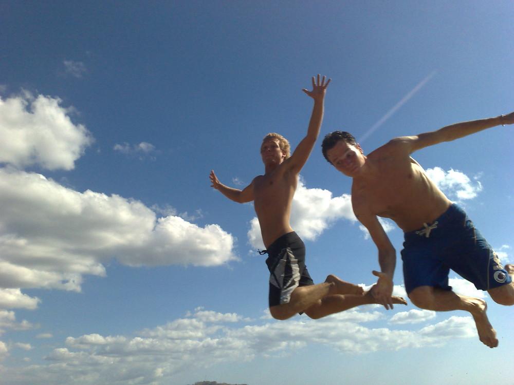 Wer springt höher?