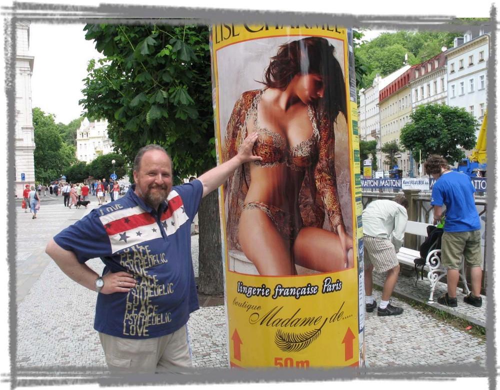 Werbesäule in Prag