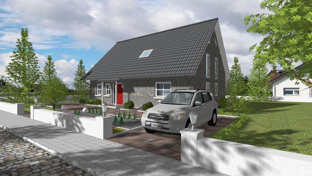 werbewirksame 3d visualisierung einfamilienhaus foto bild rendering stillleben objekte. Black Bedroom Furniture Sets. Home Design Ideas