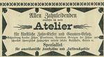 Werbung eines Zahnarztes 1895
