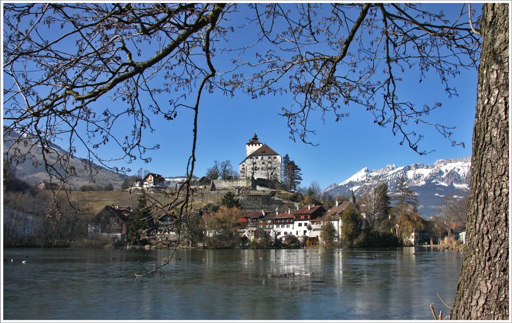 Werdenberg ist auch im Winter ohne Schnee sehenswert...