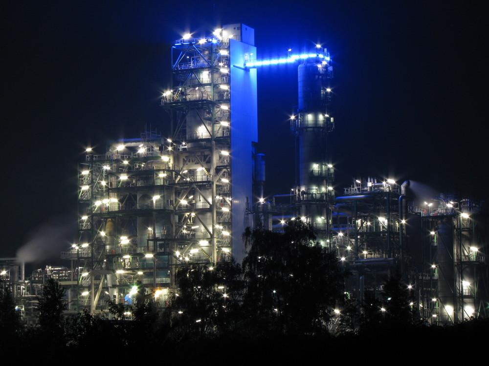 Werk Horst bei Nacht