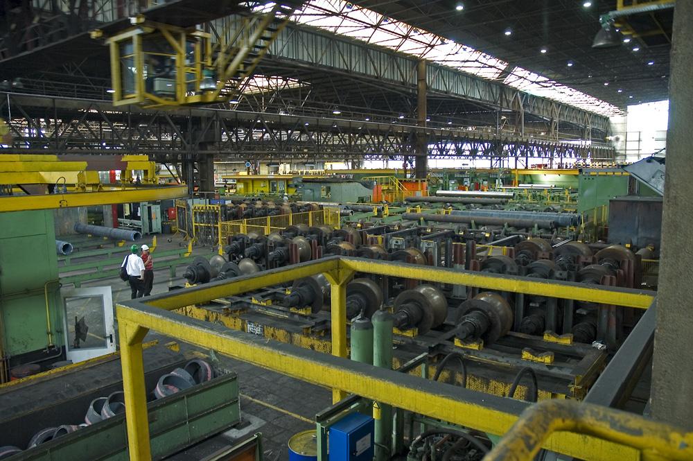 Werkshalle von Mannesmann-Röhrenwerke in Düsseldorf-Rath