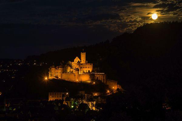 Wertheimer Burg - am späten Abend