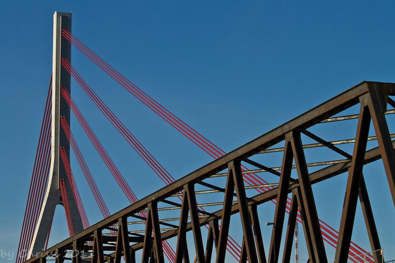 Weseler Brücke alt und neu