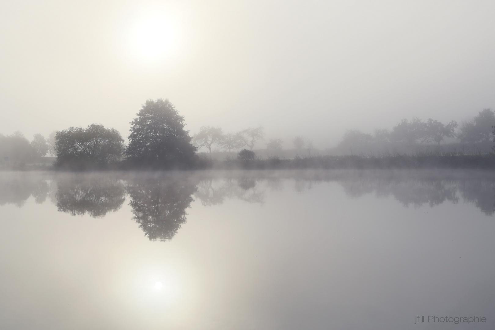 Weser im Nebel