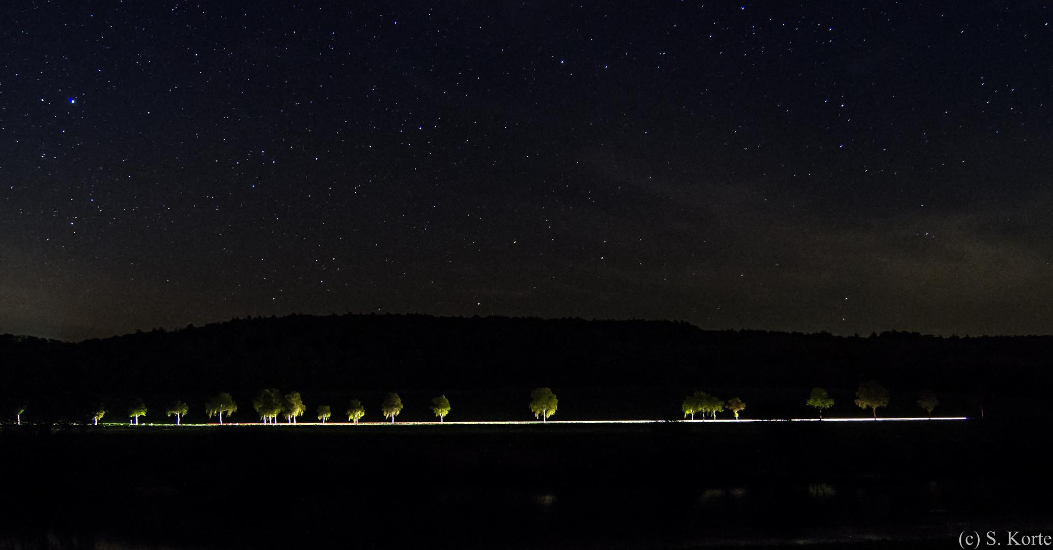 Weserallee bei Nacht