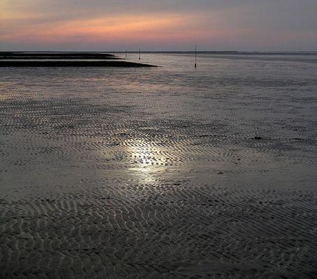 Wesermündung bei Sahlenburg an der Nordsee
