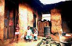 Westafrikanische Kinder - mangelernährt