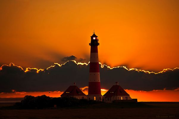 Westerhever at Sunset