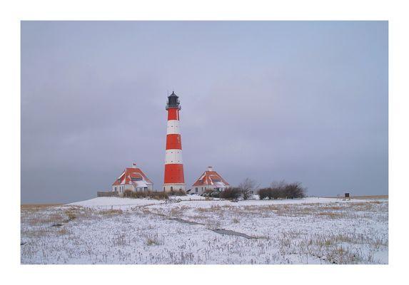 Westerhever im Schnee