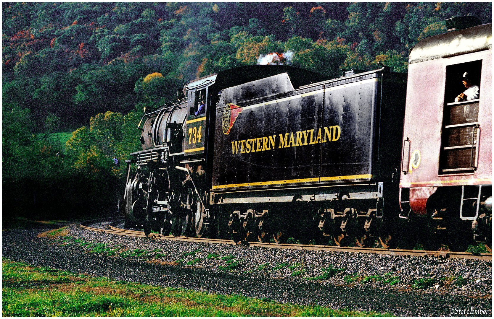 Western Maryland No. 734 on Helmstetter's Curve