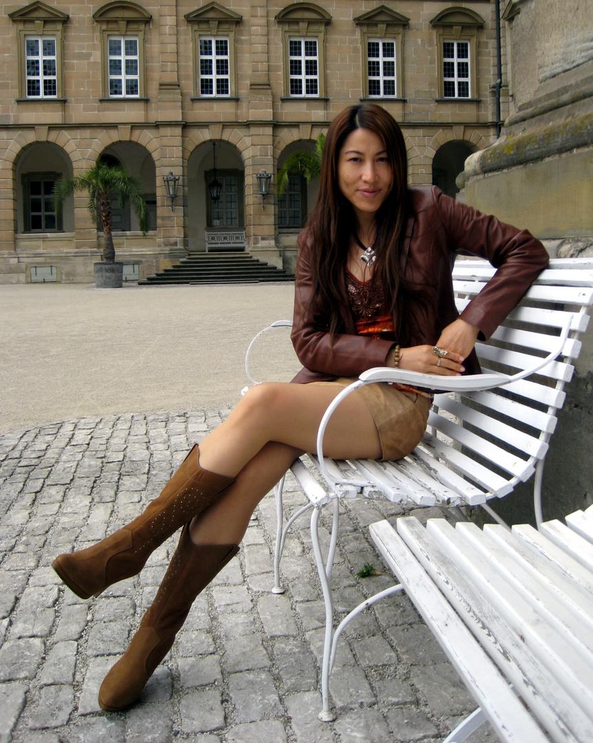 Junge Deutsche Fickmaus auf dem Hochhaus durch gefickt
