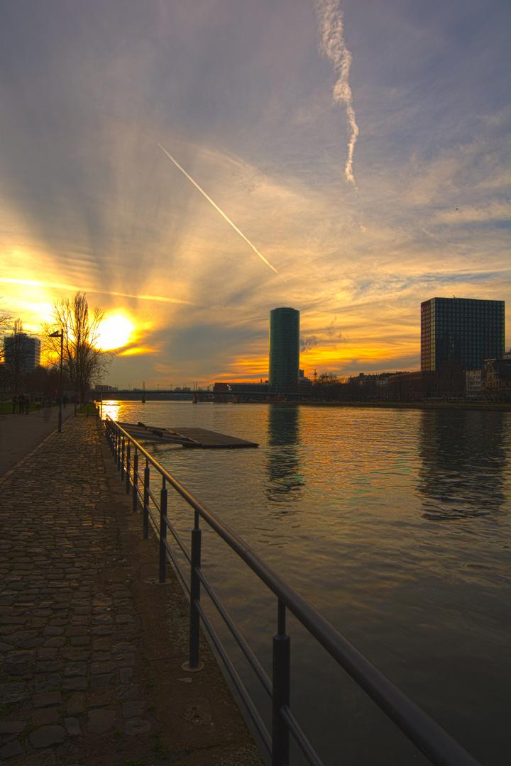 Westhafen Tower Sunset