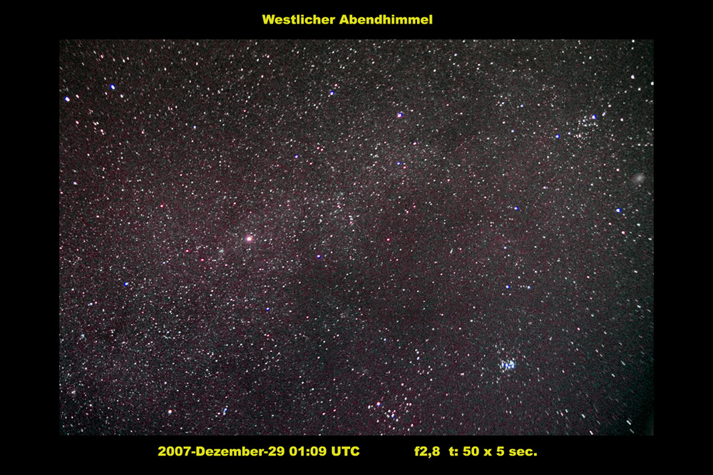 Westlicher Nachthimmel