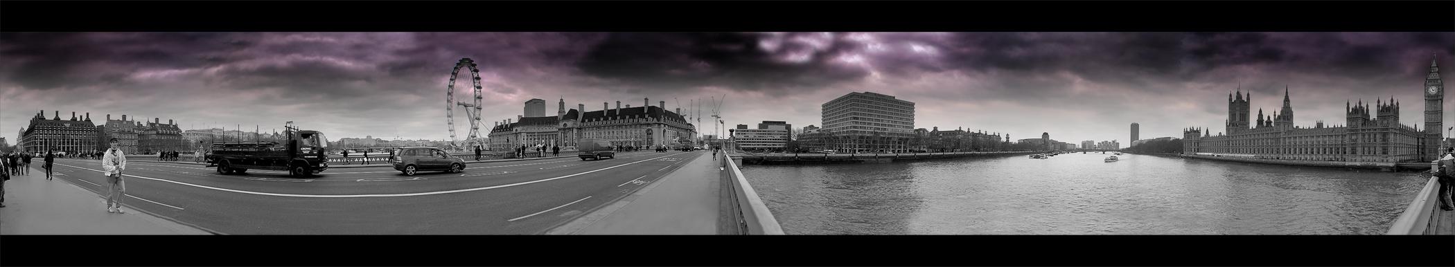 Westminster Bridge - Panorama über Themse