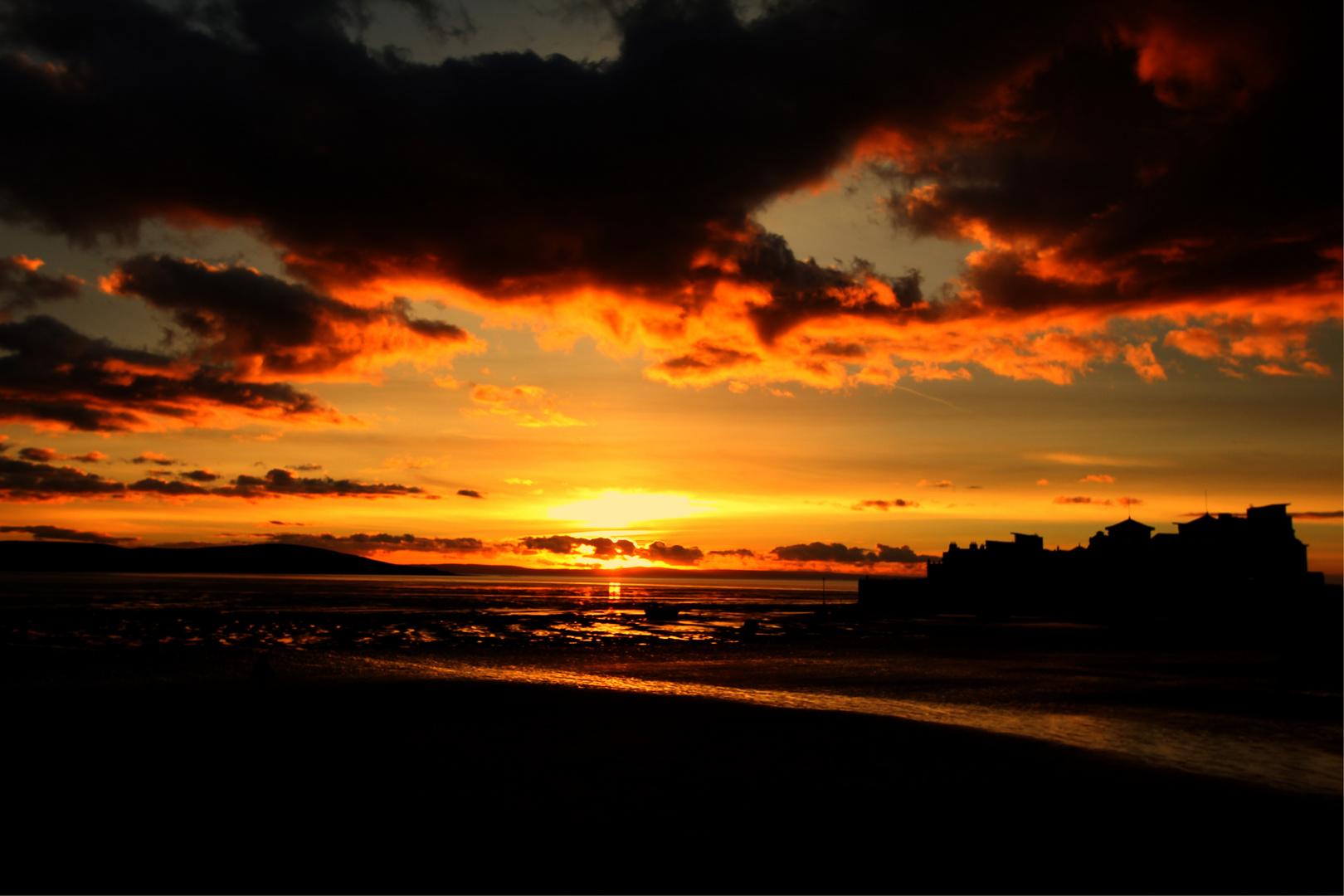 Weston Super Mare Sonnenuntergang