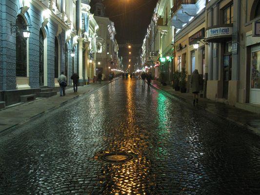 wet evening