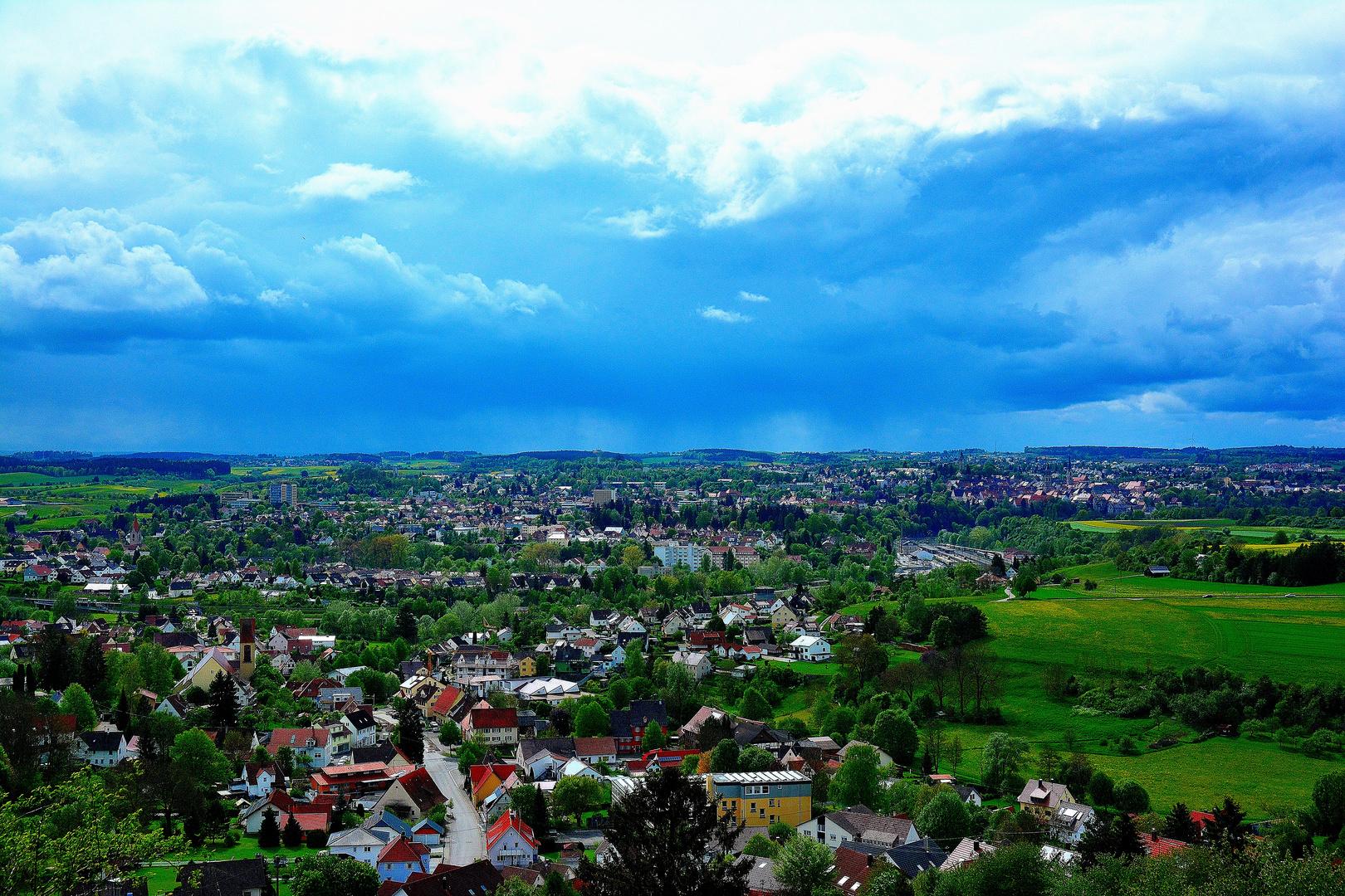 Wetter über der Stadt