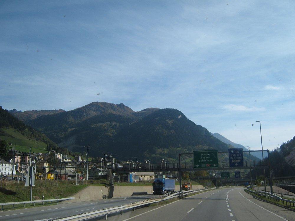 Wetterbedingungen am 13.10.10 Gotthard Süd