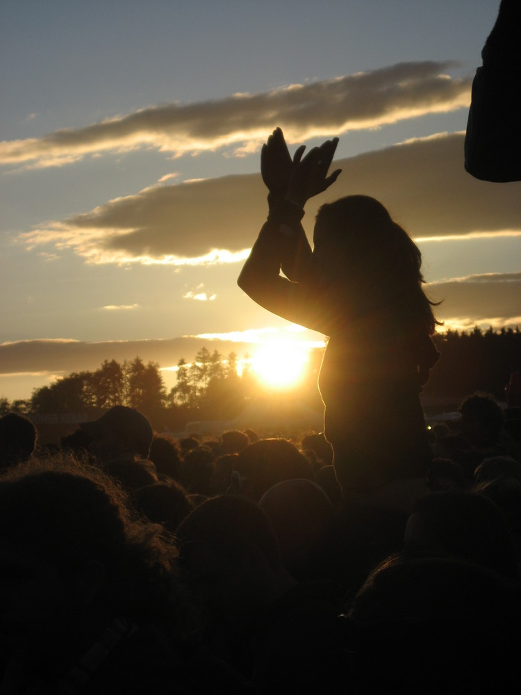 when the sun goes down and the music starts